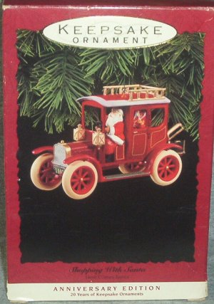 Hallmark Keepsake Christmas Ornament Shopping With Santa 1993 Anniversary Edition Here Comes FB ~*~v