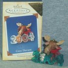 Hallmark Keepsake Christmas Ornament COLORWAY / REPAINT Cool Decade 2004 Moose Bunny #5 GB ~*~v