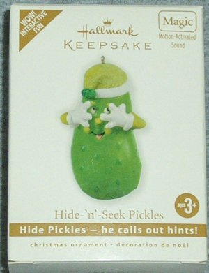 Hallmark Keepsake Christmas Ornament 2010 Hide N Seek Pickles Magic VGB ~*~