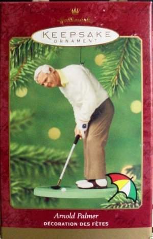 Hallmark Keepsake Christmas Ornament 2000 Arnold Palmer PGA Golf GB ~*~