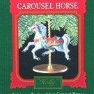 Hallmark Keepsake Christmas Ornament 1989 Carousel Horse Holly #2 FB ~*~v