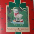 Hallmark Keepsake Christmas Ornament Grandchild's First 1984 Pull Toy Lamb GB ~*~v