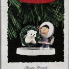 Hallmark Keepsake Christmas Ornament Frosty Friends 1994 Eskimo Bear in Hoop  #15 FB ~*~v