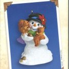 Hallmark Keepsake Christmas Ornament Snow Buddies 2003 Snowman with Squirrels #6 VGB ~*~v