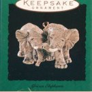 Hallmark MINIATURE Keepsake Christmas Ornament 1996 African Elephants Noah's Ark GB ~*~