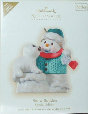 Hallmark Keepsake Christmas Ornament Snow Buddies REPAINT 2009 Snowman Baby Seal #12 FB ~*~