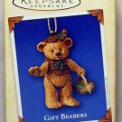 Hallmark Keepsake Christmas Ornament Gift Bearers 2004 Jointed Porcelain Teddy Bear #6 GB ~*~v