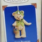 Hallmark Keepsake Christmas Ornament Gift Bearers 2005 Jointed Porcelain Teddy Bear #7 GB ~*~
