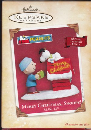 Hallmark Keepsake Christmas Ornament Merry Christmas Snoopy 2004 Charlie Brown Peanuts VGB ~*~