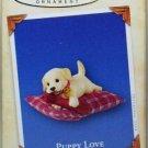 Hallmark Keepsake Christmas Ornament Puppy Love 2004 Yellow Lab Dog #14 VGB ~*~v