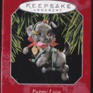 Hallmark Keepsake Christmas Ornament Puppy Love 1998 Black Lab Pup Dog Light String #8 GB ~*~