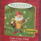 Hallmark Keepsake Christmas Ornament Crayola Crayon Color Crew Chief Elf 2001 GB ~*~v