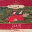 Hallmark Keepsake Christmas Ornament Here Comes Santa 2000 Sleigh X-2000 Rocket Car #22 GB ~*~v