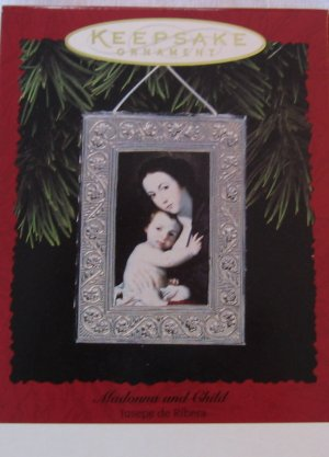 Hallmark Keepsake Christmas Ornament 1996 Madonna and Child Framed Art GB ~*~