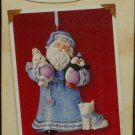 Hallmark Keepsake Christmas Ornament 2002 Woodland Friends Santa with Bunny Fox Penguin GB ~*~