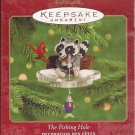 Hallmark Keepsake Christmas Ornament 2000 The Fishing Hole Fisherman Raccoon Ice Fishing GB ~*~