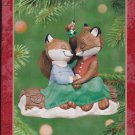 Hallmark Keepsake Christmas Ornament Our First Christmas Together 2001 Foxes on Log FB ~*~