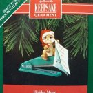 Hallmark Keepsake Christmas Ornament 1992  Holiday Memo Chipmunk on Office Stapler GB ~*~