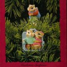 Hallmark Keepsake Christmas Ornament 1994 Mistletoe Surprise Hang-Together Chipmunk Love FB ~*~v