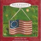 Hallmark Keepsake Christmas Ornament 2001 America for Me Betsy Ross Flag 13 Stars FB ~*~v