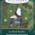 Hallmark MINIATURE Keepsake Christmas Ornament Ice Block Buddies 2000 Walrus FB ~*~
