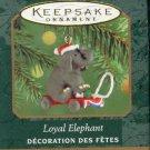 Hallmark MINIATURE Keepsake Christmas Ornament 2000 Loyal Elephant Pull Toy GB ~*~