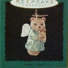 Hallmark MINIATURE Keepsake Christmas Ornament 1995 Nature's Angels Teddy Bear #6 GB ~*~