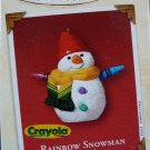 Hallmark Keepsake Christmas Ornament Crayola Crayon 2002 Rainbow Snowman VGB ~*~v