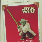 Hallmark Keepsake Christmas Ornament Star Wars 2003 Jedi Master Yoda Lightsaber GB ~*~