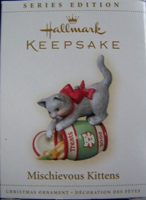 Hallmark Keepsake Christmas Ornament Mischievous Kittens 2006 Treat Jar Cat #8 FB ~*~v