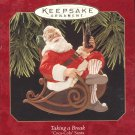 Hallmark Keepsake Christmas Ornament Taking a Break 1997 Coca-Cola Santa GB ~*~