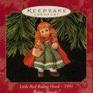 Hallmark Keepsake Christmas Ornament 1997 Little Red Riding Hood Madame Alexander #2 GB ~*~v