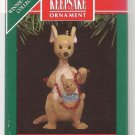 Hallmark Keepsake Christmas Ornament 1991 Kanga & Roo Garland Pooh Collection  FB ~*~