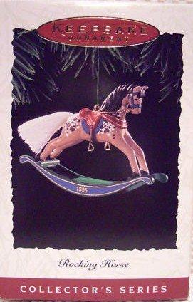 Hallmark Keepsake Christmas Ornament Rocking Horse 1995 Tan & Brown #15 FB ~*~