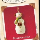 Hallmark Keepsake Christmas Ornament 2003 Merriweather Snowman Snowgirl GB ~*~