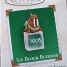 Hallmark MINIATURE Keepsake Christmas Ornament Ice Block Buddies 2003 Walrus VGB ~*~