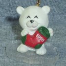 Hallmark MINIATURE Keepsake Christmas Ornament 1990 Little Frosty Friends #4 Bear NB ~*~