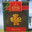 Hallmark Keepsake Christmas Ornament Fabulous Decade 1992 Teddy Bear #3 GB ~*~