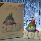Hallmark Keepsake Christmas Ornament 2010 Frosty Fun Decade #1 COLORWAY Snowman GB~*~