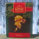 Hallmark Keepsake Christmas Ornament Puppy Love 1991 Golden Cocker Spaniel Dog #1 GB ~*~