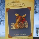 Hallmark Keepsake Christmas Ornament Cool Decade 2004 #5 Moose & Rabbit GB ~*~