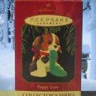 Hallmark Keepsake Christmas Ornament Puppy Love 1997 Beagle Dog w/Slipper  #7 FB ~*~