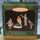 Hallmark MINIATURE Keepsake Christmas Ornament Set 1997 King of the Forest Wizard of Oz GB ~*~v