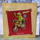 Hallmark Keepsake Christmas Ornament 2004 Pedal Power Kermit the Frog on Bicycle Muppets GB ~*~