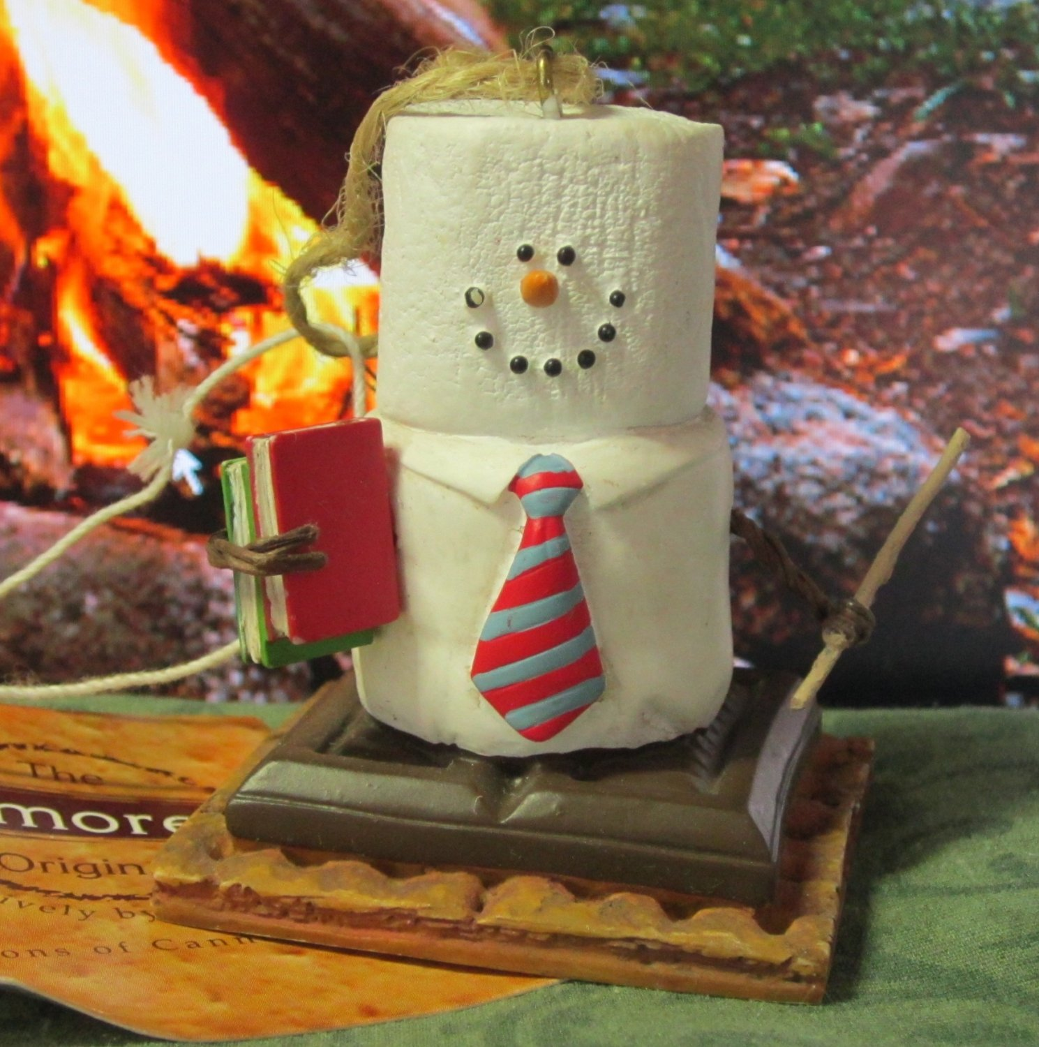 S mores ornaments - S Mores Midwest Cannon Falls Marshmallow Snowman Ornament Camping Teacher Nb