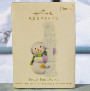 Hallmark Keepsake Christmas Ornament 2012 Frosty Fun Decade #3 Snowman GB~*~v