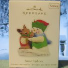 Hallmark Keepsake Christmas Ornament Snow Buddies 2011 Snowman with Reindeer #14 GB ~*~v