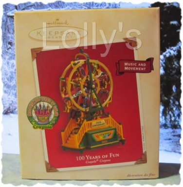 Hallmark Keepsake Christmas Ornament Crayola Crayon Ferris Wheel 2003 100 YEARS OF FUN GB ~*~v