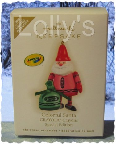 Hallmark Keepsake Christmas Ornament Crayola Crayon 2009 Colorful Santa SPECIAL GB ~*~v