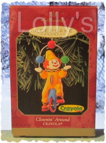 Hallmark Keepsake Christmas Ornament Crayola Crayon 1999 Clownin' Around Circus Clown GB ~*~v